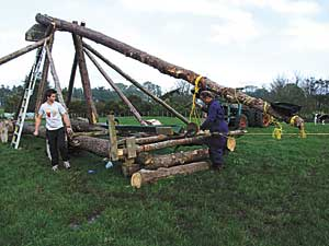 Family launches medieval weapon