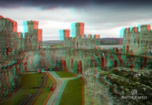 Conwy Castle 3D Battle Castle