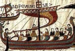 Bayeux Tapestry Viking Ship