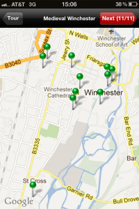 Medieval Winchester Map