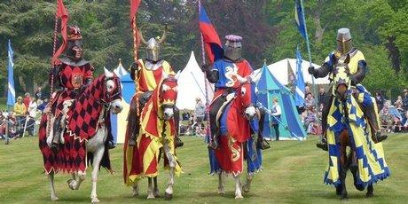 Royal jousting at Blenheim Palace