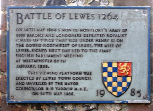 Battle of Lewes plaque