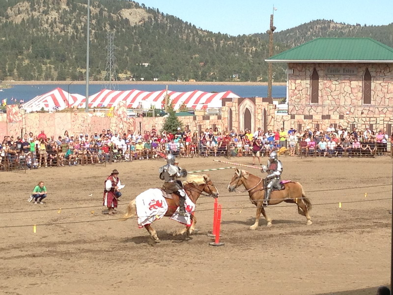Jousting event Longs Peak Scottish Festival 2013