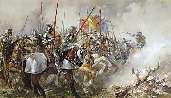 King Henry V at the Battle of Agincourt 1415