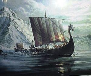 viking ship arctic waters